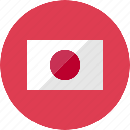 country, flag, flags, japan, national, round, world icon