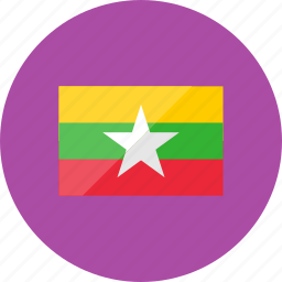 country, flag, flags, location, myanmar, national, world icon