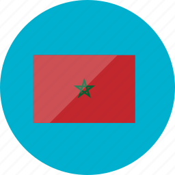 country, flag, flags, morocco, national, round, world icon
