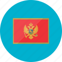 country, flag, flags, location, montenegro, national, world icon