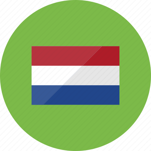 country, flag, flags, national, netherlands, round, world icon