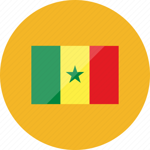 country, flag, flags, location, national, senegal, world icon
