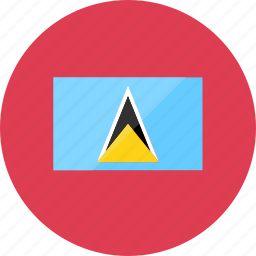 country, flag, flags, location, national, saint lucia, world icon