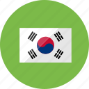 country, flag, flags, location, national, south korea, world icon