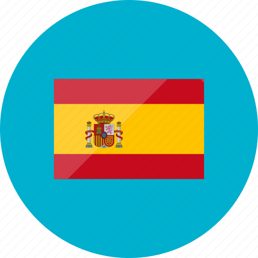 country, flag, flags, national, spain, world icon