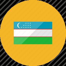 country, flag, flags, national, uzbekistan, world icon