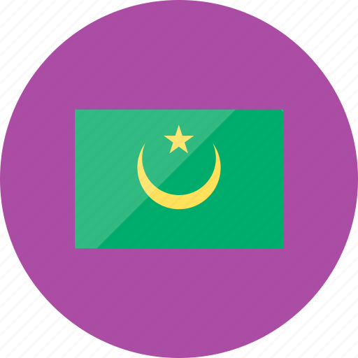 country, flag, flags, mauritania, national, world icon