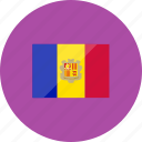 andorra, country, flag, flags, location, national, world icon
