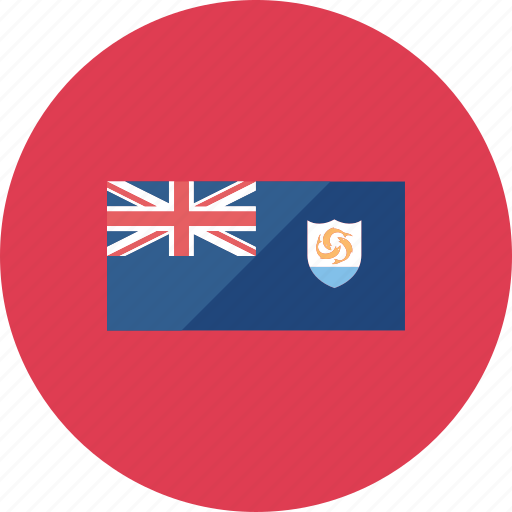 anguilla, country, flag, flags, location, national, world icon