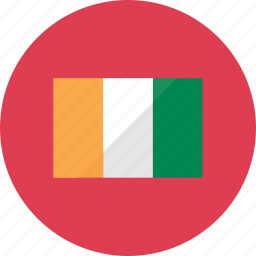 cote d'ivoire, country, flag, flags, location, national, world icon