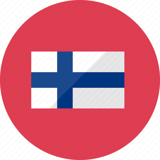 country, finland, flag, flags, national, round, world icon