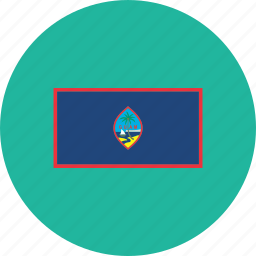 country, flag, flags, guam, national, round, world icon