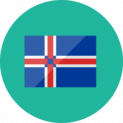 country, flag, flags, iceland, location, national, world icon