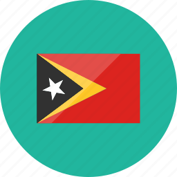 country, east timor, flag, flags, location, national, world icon