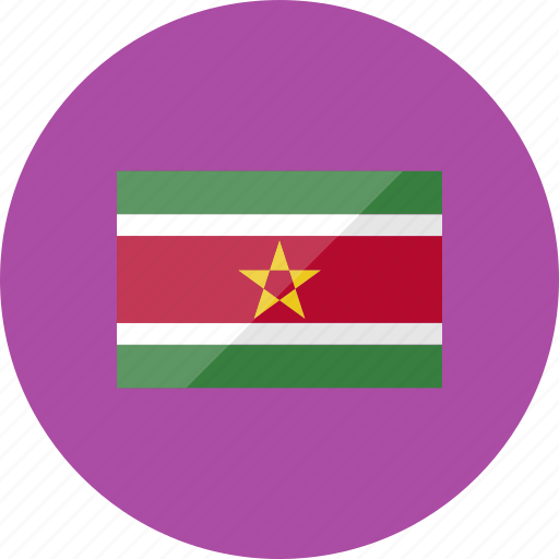 country, flag, flags, location, national, suriname, world icon