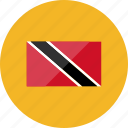 country, flag, flags, location, national, trinidad and tobago, world icon