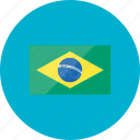brazil, country, flag, flags, location, national, world icon