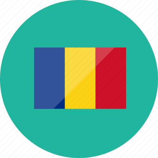 chad, country, flag, flags, location, national, world icon