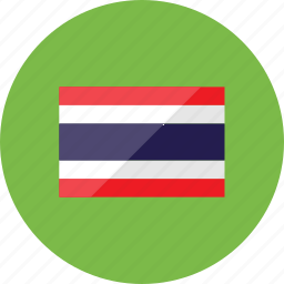 country, flag, flags, location, national, thailand, world icon