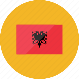 albania, country, flag, flags, location, national, world icon