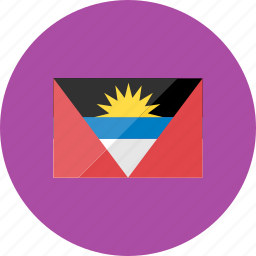 antiqua, barbuda, country, flag, flags, national, world icon