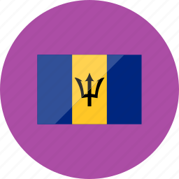 barbados, country, flag, flags, location, national, world icon