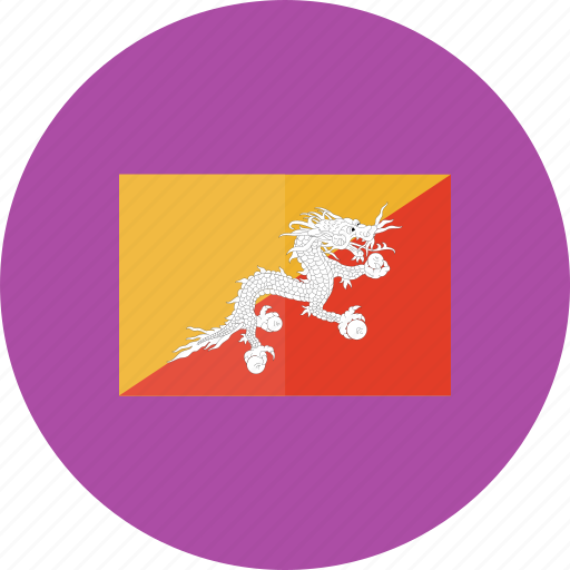 bhutan, country, flag, flags, location, national, world icon