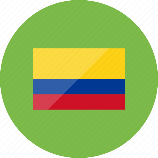 colombia, country, flag, flags, location, national, world icon