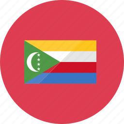 comoros, country, flag, flags, location, national, world icon