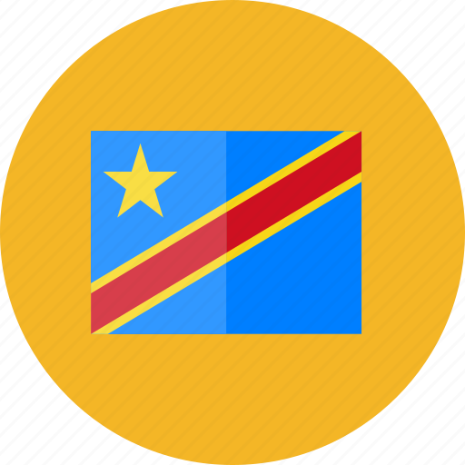 congo, country, democratic, flags, national, round, world icon