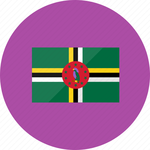 country, dominica, flag, flags, location, national, world icon