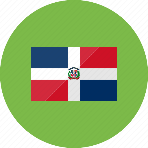 country, dominican, flag, flags, national, republic, world icon