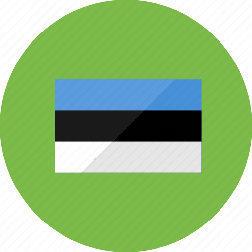 country, estonia, flag, flags, location, national, symbols icon