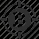 bitcoin, circle icon