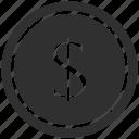 dollar, money, usd icon