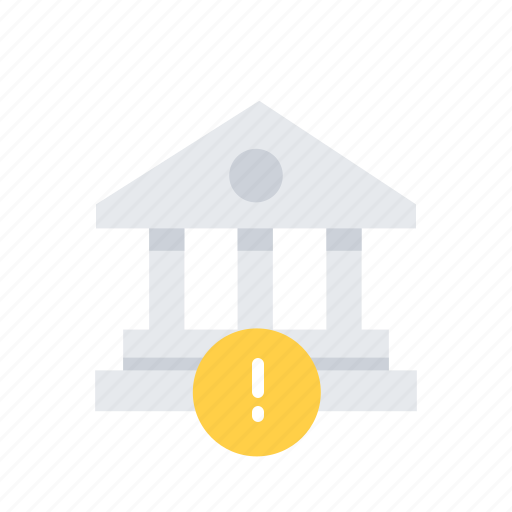 alert, bank, building, business, estate, finance, office icon