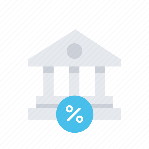 architecture, bank, building, discount, estate, office, real icon