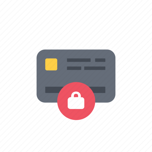 card, lock, payment icon