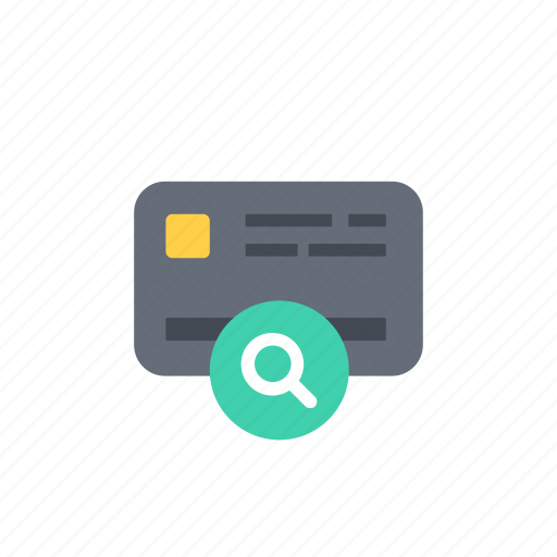 business, card, finance, money, payment, search icon