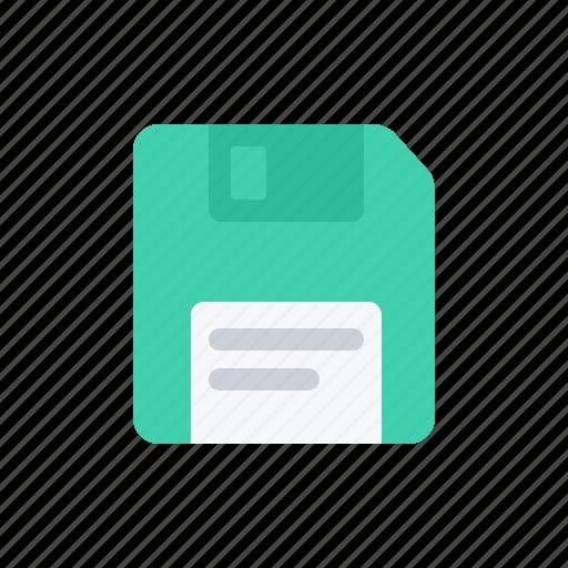 data, diskette, document, file, floppy disk, green, storage icon