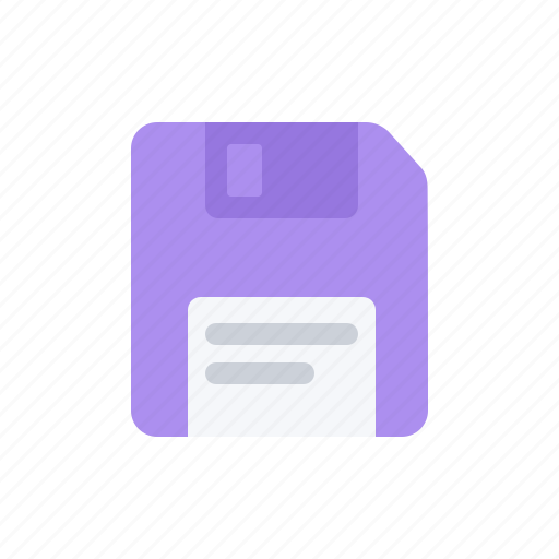 data, diskette, document, file, floppy disk, information, violet icon