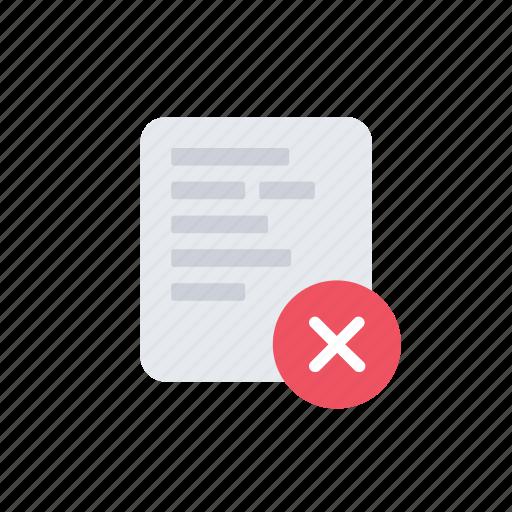 cross, data, document, error, file, page, paper icon