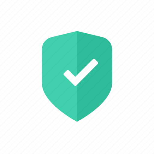 check, green, protection, safety, secure, security, shield icon