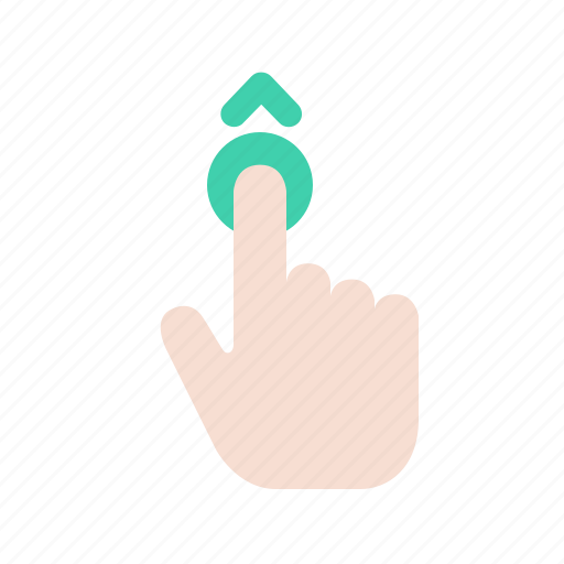 arrow, direction, finger, gesture, hand, movement, up icon
