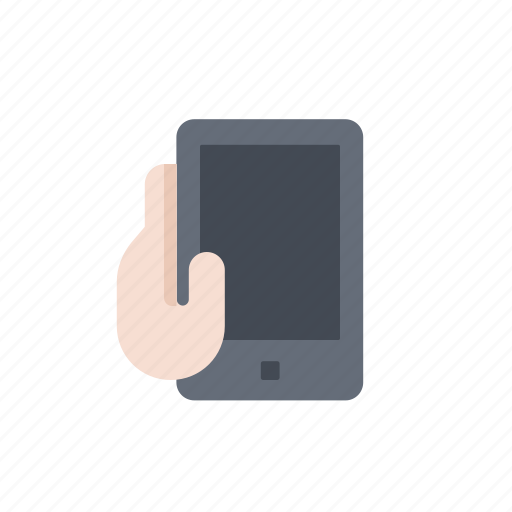 device, hand, mobile, phone, smartphone, telephone icon