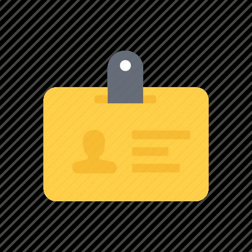 card, id, yellow icon