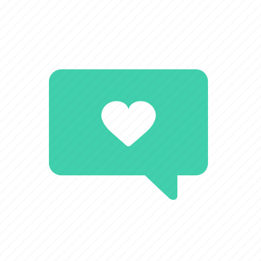 bubble, chat, heart, like, love, message, talk icon
