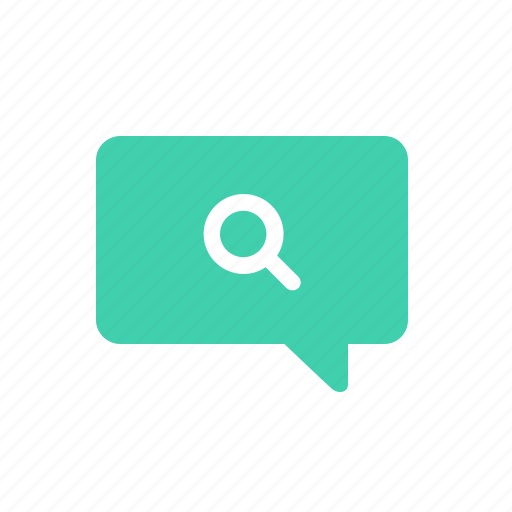 bubble, chat, communication, find, message, search, talk icon