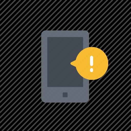 alert, communication, device, mobile, phone, smartphone icon