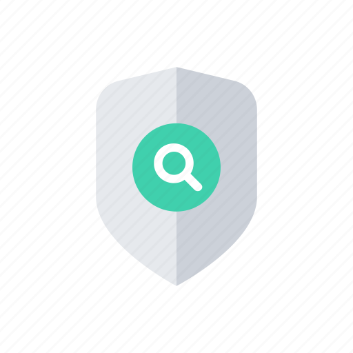 find, lock, protection, search, secure, security, shield icon